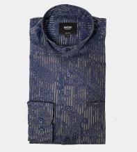Designad skjorta med mandarinkrage