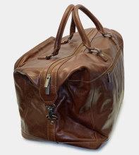 Weekendbag i Buffelskinn - Brun